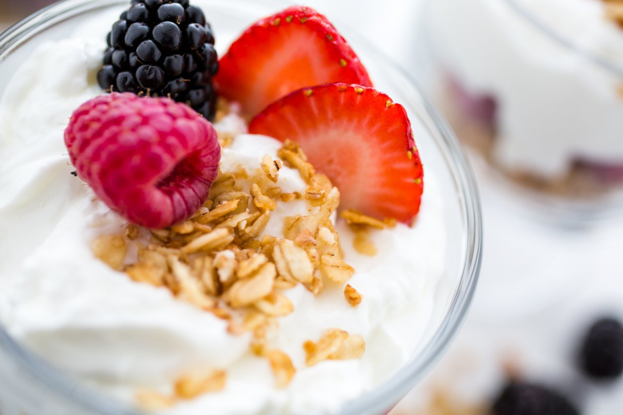 Eat yogurt for healthy skin