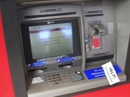 man trapped in an atm image funny