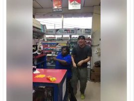 image channing dancing lady gas station