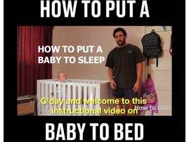 image how to put a baby to sleep