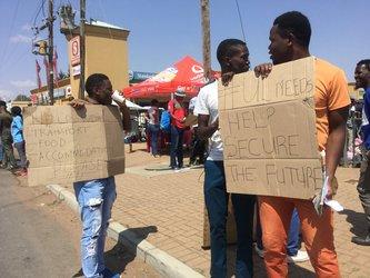 University Limpopo students begging