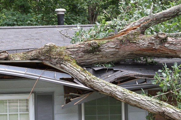 Home weather damage - stock photo