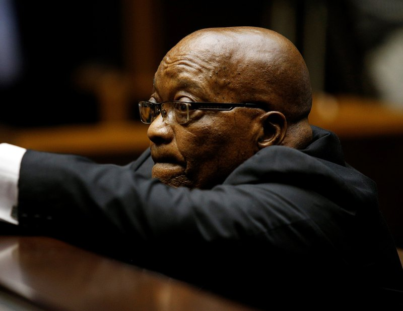 former president, Jacob Zuma's corruption case in court