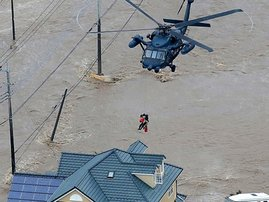 Dramatic rescue in flood-stricken Japan