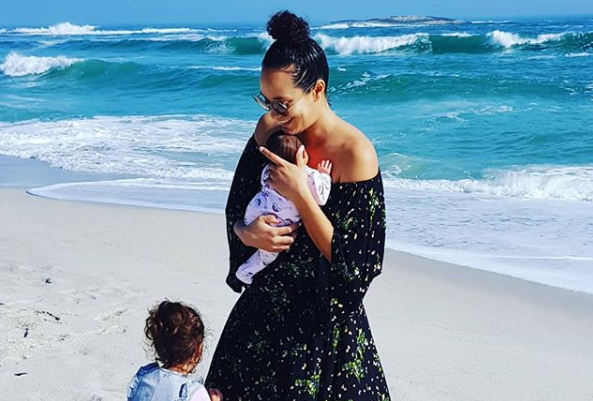 Jo-Ann Strauss and her daughters