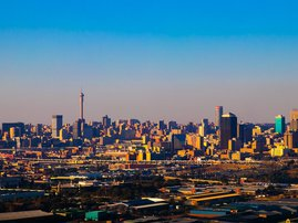 Johannesburg skyline breakfast