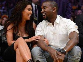 Kim and Kanye West-afp