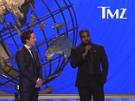 Kanye West and Pastor Joel Osteen