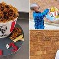 KFC bucket birthday cake
