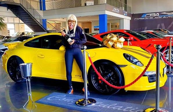 Khanyi Mbau new Porsche