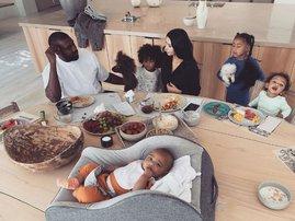 Kim Kardashian and her children