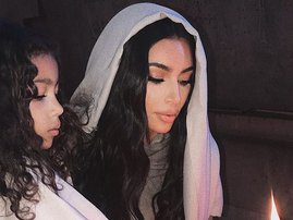 Kim Kardashian baptised