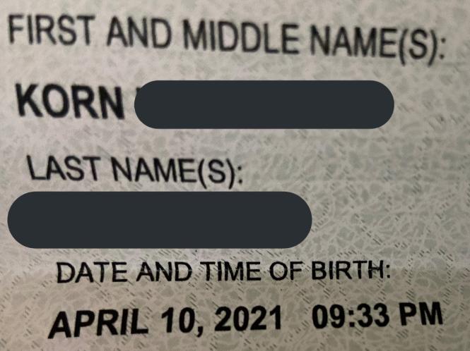 Hospital mistakenly names newborn after rock band - KORN!
