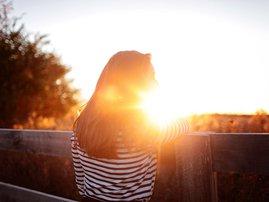 Lady Behind sunset