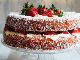 Strawberry lamington cake recipe from The Tocka Blog