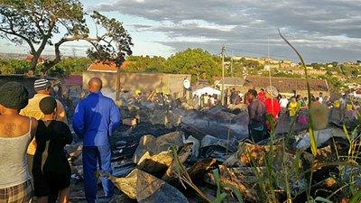 Multiple Dwellings Relief >> 1 killed in Lamontville informal settlement fire