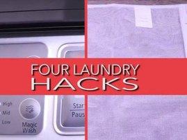 Laundry hacks washing machine clothes