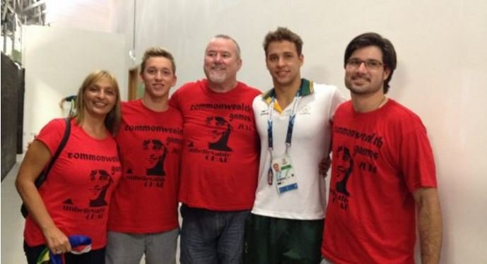 Chad le Clos family