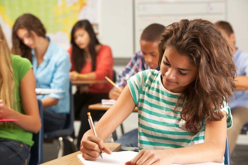 Learners writing exam
