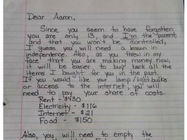 Letter to son