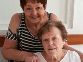 Eileen Drever (seated) with her sister Rose Andrew
