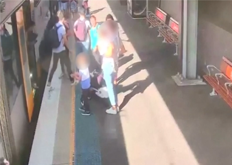Boy Falls Through Train Gap