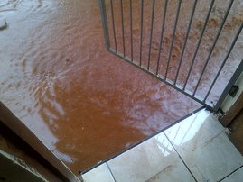 Flooded garden, home in Isipingo