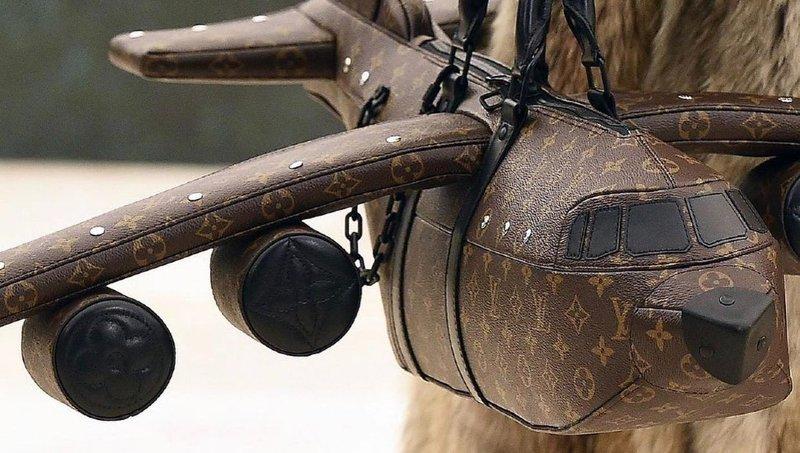 Louis Vuitton plane shaped bag