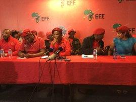Malema EFF press conference
