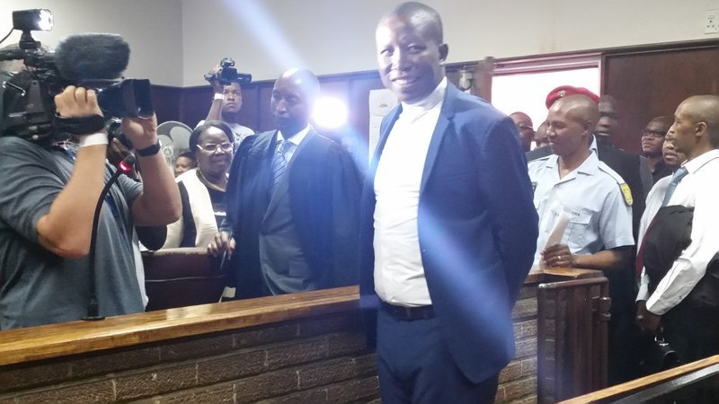 Julius Malema in court in Newcastle over land invasion call