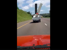 man flying off the truck