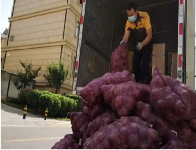 man with onions