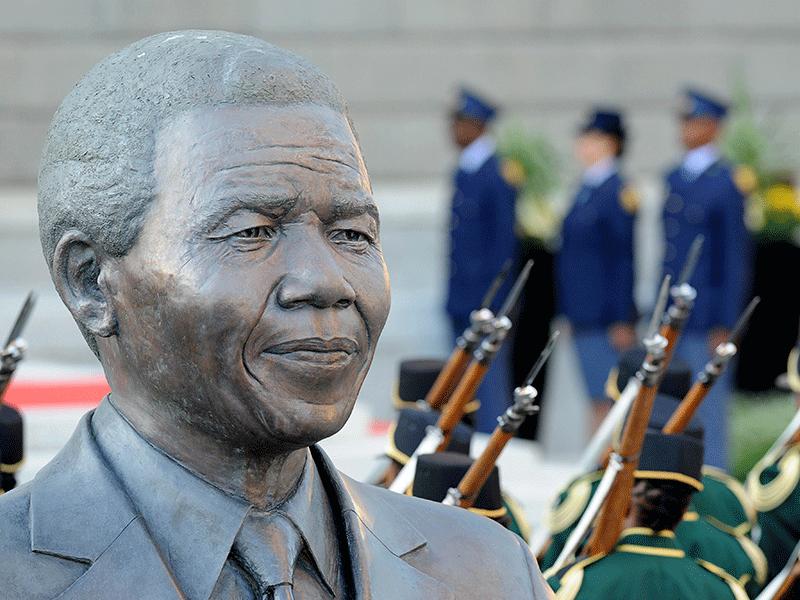 Mandela statue outside Parliament