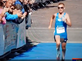 marathon runner exposed