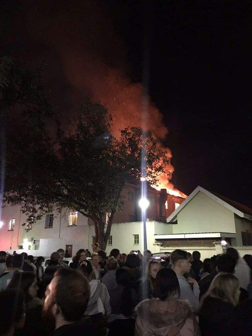 Stellenbosch University fire