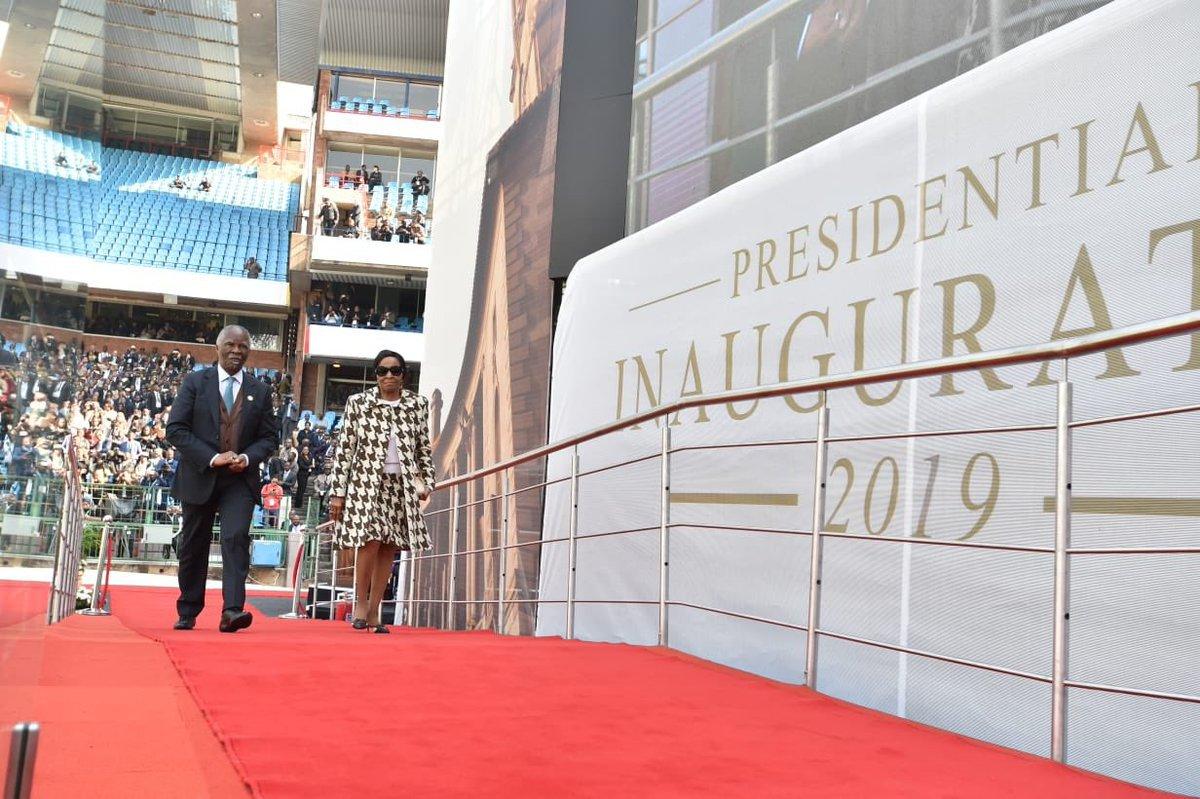 Thabo Mbeki at presidential inauguration