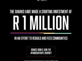 Sharks Rugby help rebuild KZN with #HandsOfHope