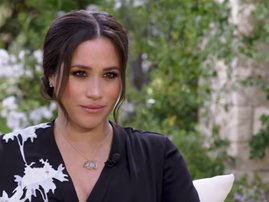 Meghan Markle during interview with Oprah
