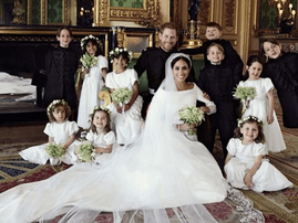 Meghan and Prince Harry official wedding picture
