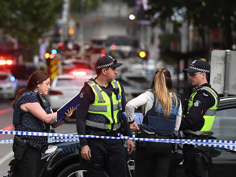 Stabbing incident in Melbourne, Australia.