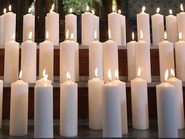 Candles for memorial