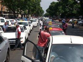 Metered taxi drivers protest Pretoria_jacanews