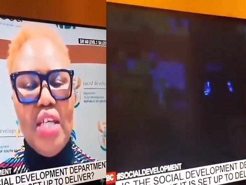 Minister of Social Development Lindiwe Zulu loadshedding interview