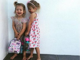 minki van der westhuizen's daughters first day at school