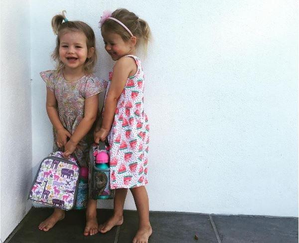 minki van der westhuizen's daughters first day at school