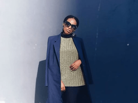 Fashion blogger Miranda Dlamini