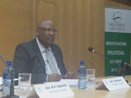 Evidence leader in Moerane Commission