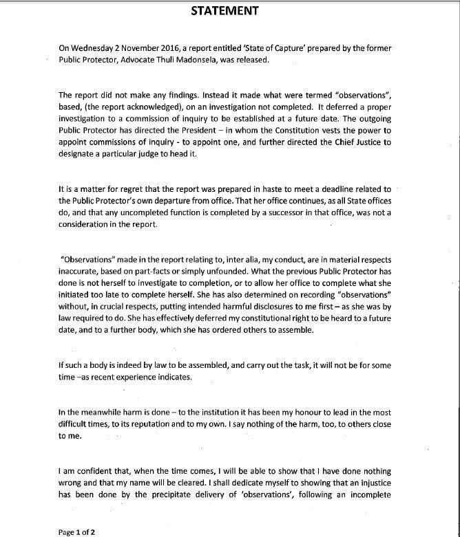 Brian Molefe resignation