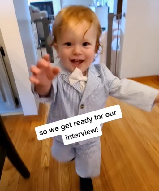 WATCH: A mother doesn't have child care so brings her toddler to her job interview