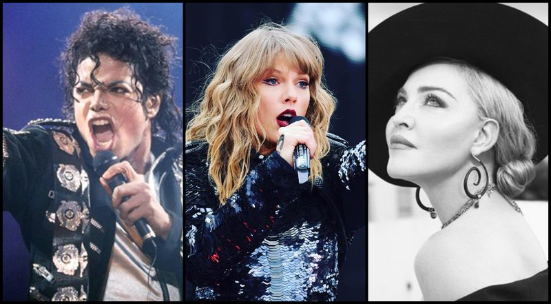 most decorated artists: Michael Jackson/Taylor Swift/Madonna